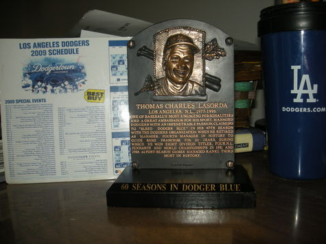 Lasorda HOF plaque giveaway.jpg