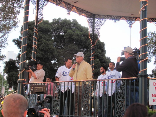 Dodgers Caravan Jaime at the Plaza .jpg