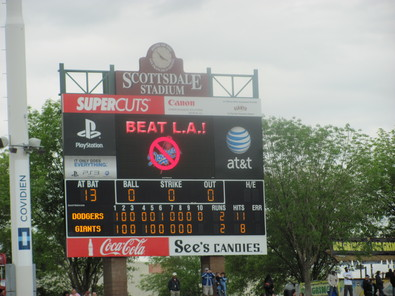 Spring Training 2010 Beat LA sign.jpg