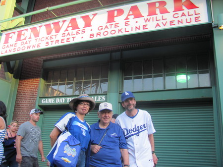 Dodger fans from ITD at Fenway jpg
