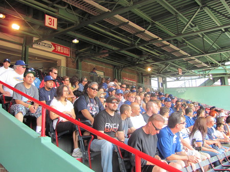 Dodger fans group at the Fenway Park tour .jpg