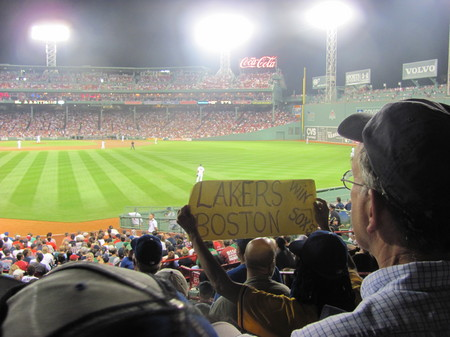 Dodger fan with sign at Fenway .jpg