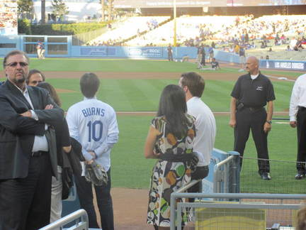 Ken Burns waiting to throw out the first pitch .jpg