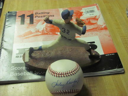 I got my Sandy Koufax Baseball!