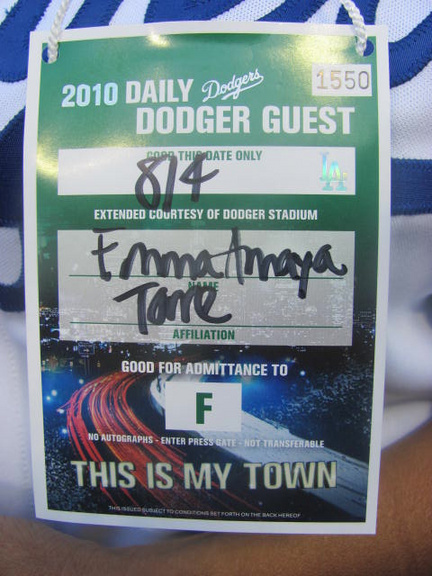 Dodger Stadium Guest pass to be on the field.jpg
