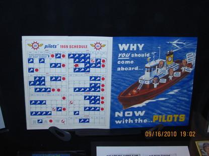 Seattle Pilots 1969 schedule jpg