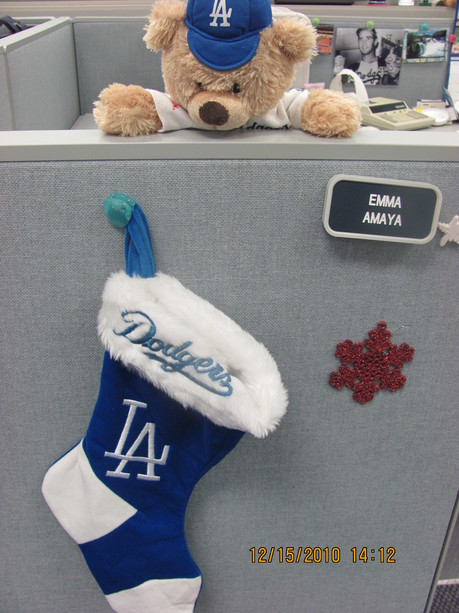 Dodger Christmas stocking.jpg