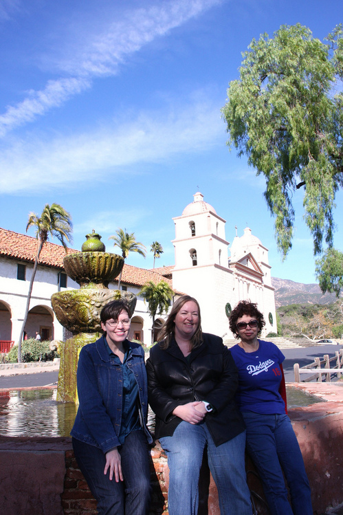 Sandi,Julie and I at Santa Barbara Mission .jpg
