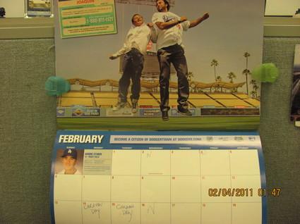 Dodgers February calendar .jpg