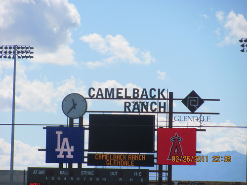 Spring Training 2011 Scoreboard Camelback Ranch.jpg