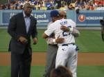Magi Johnson, Don Newcombe & Matt Kemp. May2012