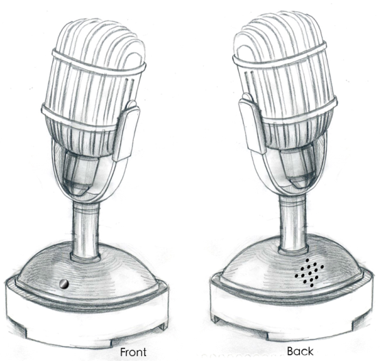 Vin Scully Microphone MOCK
