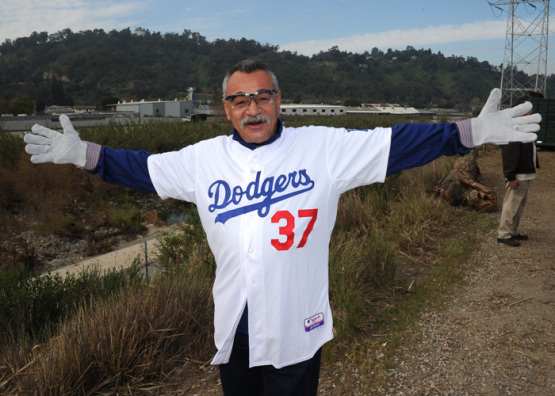 Los Angeles Dodgers Caravan-Day One-River Clean-up